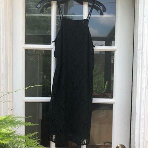 Urban outfitters black lace halter dress